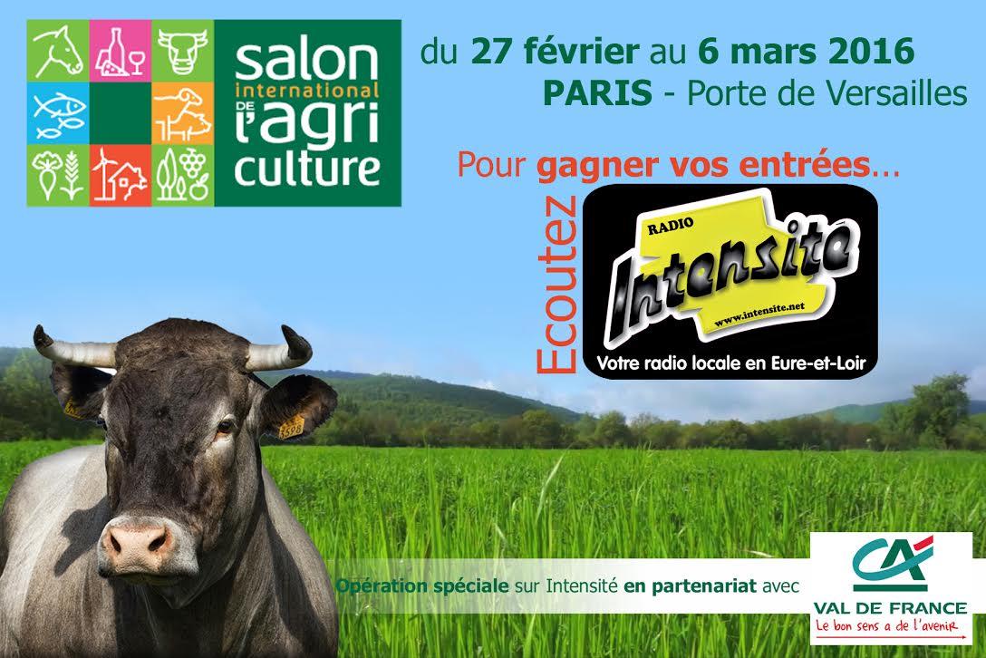 Intensite r coutez les gagnants pour le salon de l - Billet pour le salon de l agriculture ...