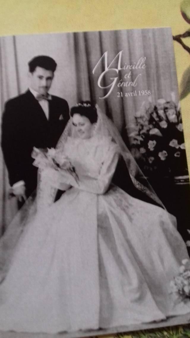 Mireille et Gérard Champagne à leur mariage en 1958 @elodierabelle