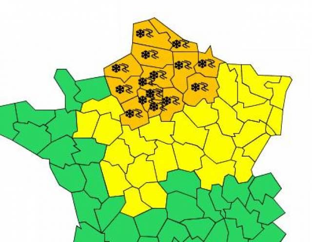 Vigilance Météo France 1er janvier à 16h