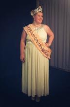 Julie Krawczyk lors de l'élection de Miss Ronde Orléanais